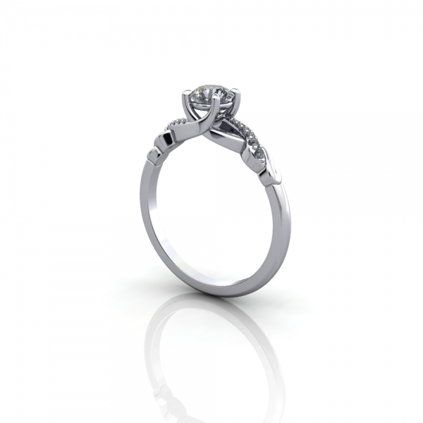claw set diamond ring twisted band