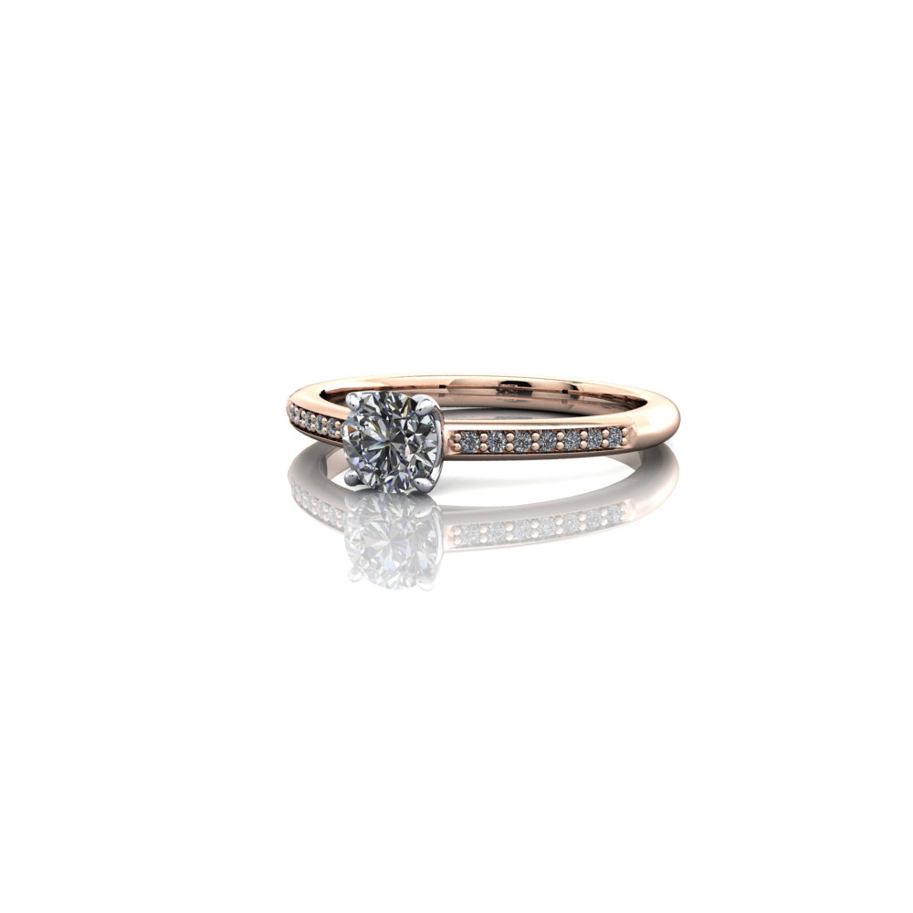 claw set diamond solitaire engagement ring
