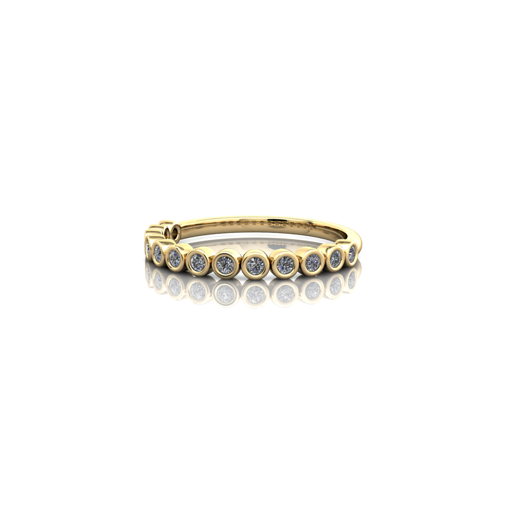 Tube set wedding ring