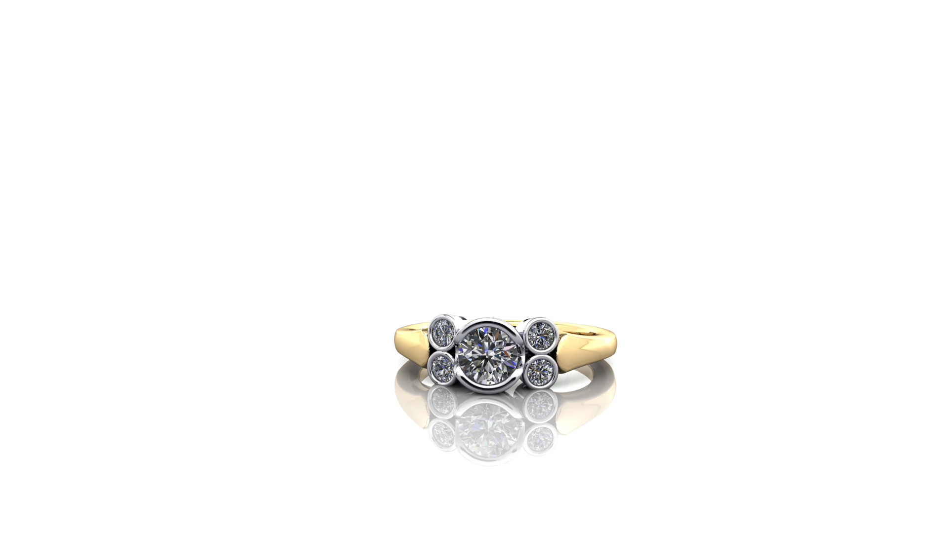 Tube set diamond ring