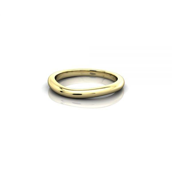 contoured wedding ring