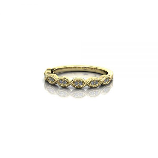 eternity ring milgrain vintage