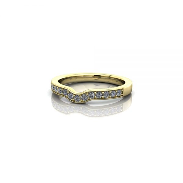 eternity ring pavé set